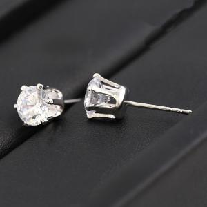 Cercei Blu Diamond argintii cu zirconiu alb