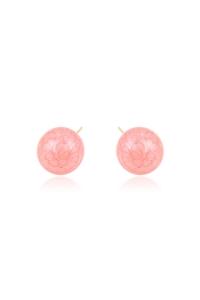 Cercei Blu Petals Sphere cu perla roz