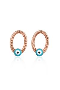 Cercei Blu Eyes aurii