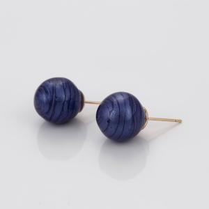 Cercei Blu Planet cu perla albatra
