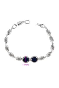 Bratara Blu Ribbon argintie cu zirconiu