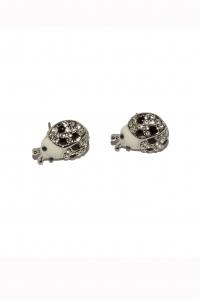 Cercei BLU Ladybeetle argintii cu zirconiu