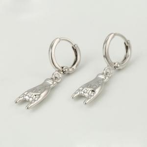 Cercei Blu Rock Hand argintii
