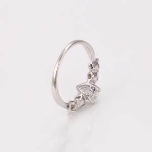 Inel Blu Fabulous argintiu cu zirconii albe