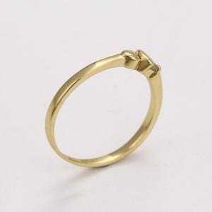 Inel Blu Golden Heart auriu cu zirconiu alb