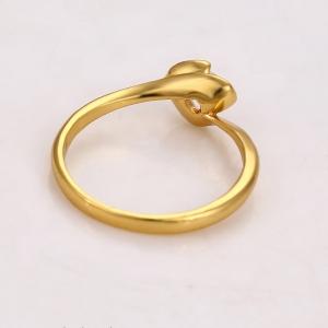 Inel Blu Golden Rose auriu cu zirconiu alb