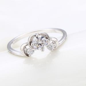 Inel Blu Queen argintiu cu zirconiu alb