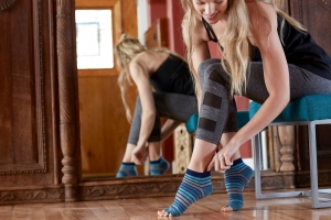 Șosete Fara Degete Yoga Gaiam - Skyline1