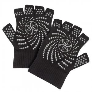 Mănuși Fara Degete Yoga Gaiam - Negre0