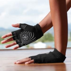 Mănuși Fara Degete Yoga Gaiam - Negre1