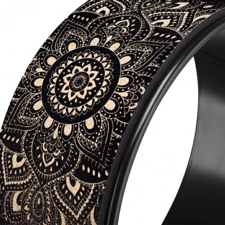 Roată Yoga Design Lab Plută - Mandala Black3