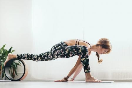 Roată Yoga Design Lab Plută - Mandala Black6