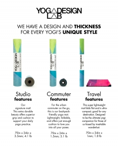 Saltea Commuter Yoga Design Lab - 1,5 mm - Chevron Maya5