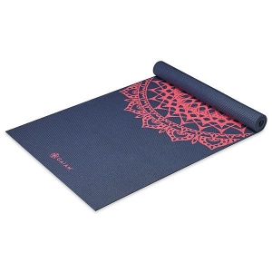 Saltea Yoga Gaiam - 4 mm - Navy Fleur Marrakesh2