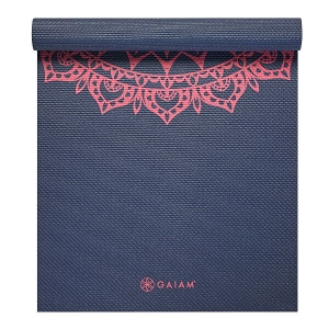 Saltea Yoga Gaiam - 4 mm - Navy Fleur Marrakesh1