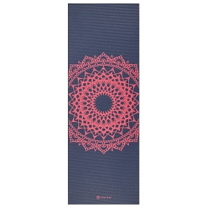 Saltea Yoga Gaiam - 4 mm - Navy Fleur Marrakesh0