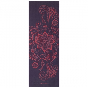 Saltea Yoga Gaiam - 6 mm - Aubergine Swirl0