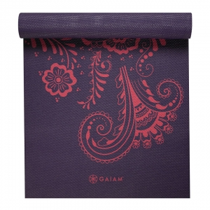 Saltea Yoga Gaiam - 6 mm - Aubergine Swirl1