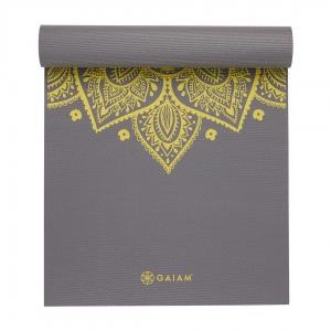 Saltea Yoga Gaiam - 6 mm - Citron Sundial1