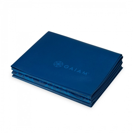 Saltea Yoga Gaiam Pliabila - 2 mm - Sundial Albastru3