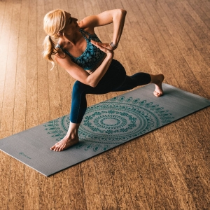 Saltea Yoga Gaiam Premium XL - 6 mm - Teal Marrakesh3