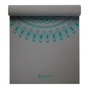 Saltea Yoga Gaiam Premium XL - 6 mm - Teal Marrakesh1