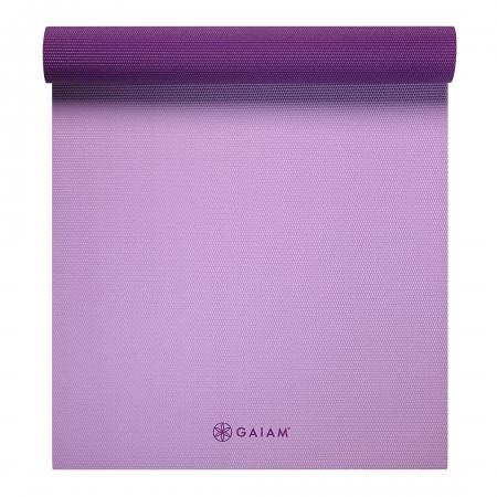 Saltea Yoga Gaiam Reversibila- 6 mm - Plum Jam2