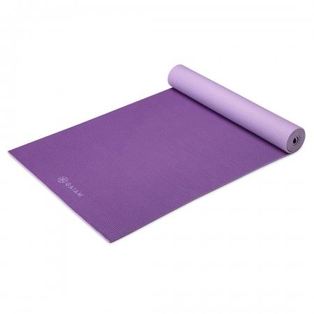 Saltea Yoga Gaiam Reversibila- 6 mm - Plum Jam1